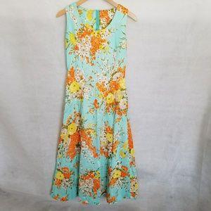 1960s Poly, Floral, Hawaiian Dress